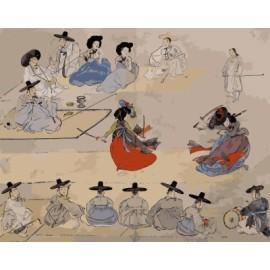 Pintura bricolaje by números pintura china en la lona GX7183