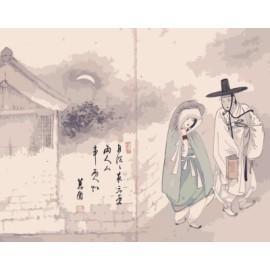 Pintura bricolaje by números pintura china en la lona GX7182