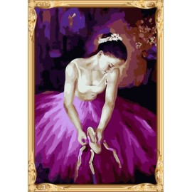 Colorear by números mujeres atractivas ballerine diy pintura al óleo en la lona para la decoración casera GX7353
