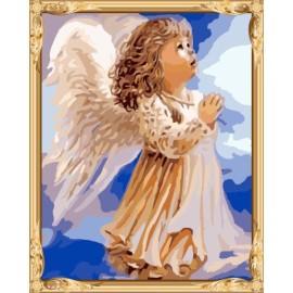 Gx7396 kleine engel Photo Paint nach zahlen-sets Ölgemälde