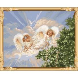 Gx7399 2015 nueva caliente ángel foto pintura by números para modern living room decor