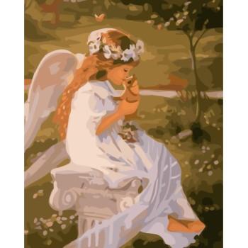 holzrahmen wanddekoration acrylmalerei von bumbers kit mit wenig girl bild gx7227