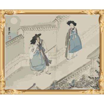 kunst lieferanten acryl diy malen nach zahlen chinesische malerei für wohnkultur gx7563