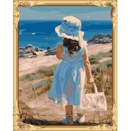 Gx 7606 kleines Mädchen malen nach zahlen-sets Ölgemälde