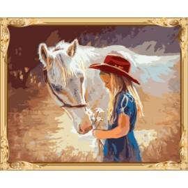 Mujeres digitales de la lona del caballo pintura al óleo para el dormitorio GX7583