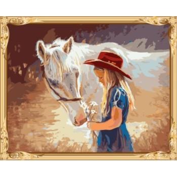 digital frauen pferd leinwand Ölgemälde für schlafzimmer gx7583