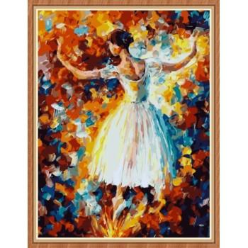 Paintboy abstrakte ballerina Bild von Zahlen für wand-kunst gx7804
