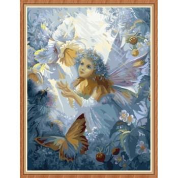 leinwanddrucke engel bild färbung von Zahlen für wohnkultur gx7835
