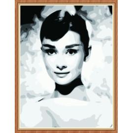 Porträt Öl malen nach zahlen kit für schlafzimmer gx7895