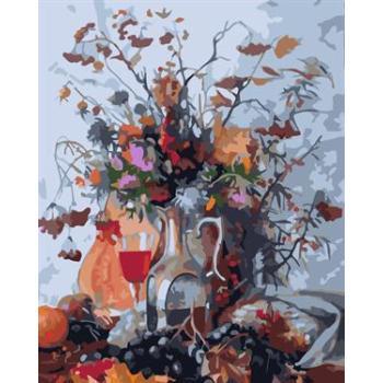 Ölgemälde kit malerei für Anfänger gesetzt gx6590 yiwu fabrik stillleben blume bild mit vase