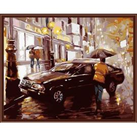 Coche moderno bellas artes pintura al óleo by números GX6379 paintig en la lona