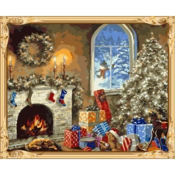 gx7431 weihnachten heiße foto diy Öl malen nach zahlen