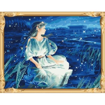 Gx7439 constellation-baureihe Anzahl malerei handgefertigte Ölgemälde für wohnkultur