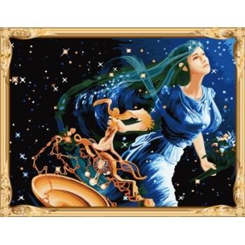 Gx7448 constellation-baureihe libra digitale handgefertigte Ölgemälde für wohnkultur