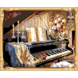 stillleben Klavier paintworks malen nach zahlen für erwachsene gx7553