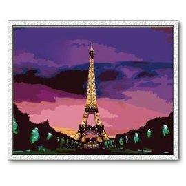 Diy Öl malen nach zahlen, landschaft Ölgemälde, moderne Ölgemälde, paris bild malerei
