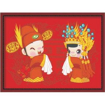 besten preis diy Öl malen nach zahlen e041 chinesische design acryl paitning jia cai tian yan