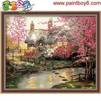 färbung von zahlen diy großhandel handwerk suppliesoil malerei anfänger kit blume haus bild