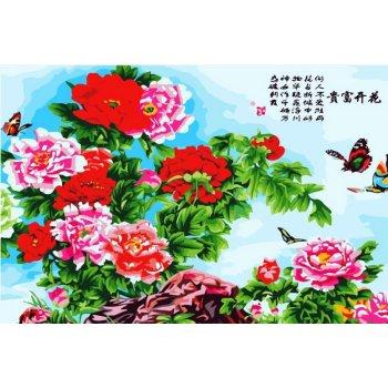 Diy Ölgemälde chinesische blumen Bild- Öl malen nach zahlen kit
