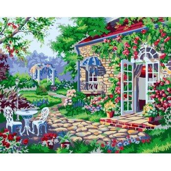 g187 Gartenlandschaft malerei auf leinwand diy Öl malen nach zahlen
