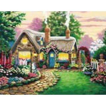 neuen stil malen nach zahlen g169 Garten lanscape Ölbild auf leinwand