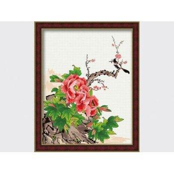 Neuen stil malen nach zahlen g045 Blumen-und vogel fotodesign malerei auf leinwand