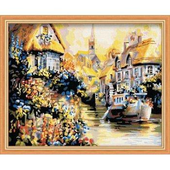 gute qualität diy Öl malen nach zahlen g108 Stadt Sonnenuntergang landschaft malerei auf leinwand