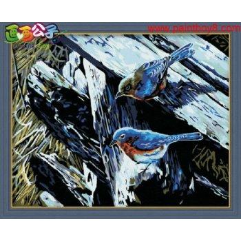 Diy Ölgemälde von digitalen Vogel tier-design malen nach zahlen