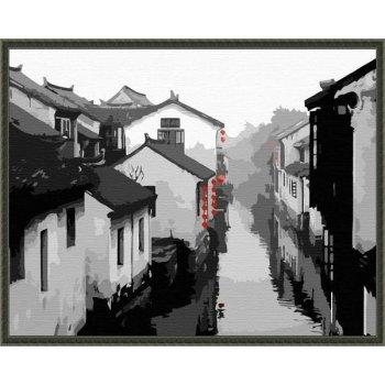 g199 chinesischen stadt landschaft leinwand gemälde neuen stil malen nach zahlen