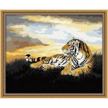 G035 tiger-design tier foto auf leinwand gute qualität diy Öl malen nach zahlen