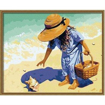 g019 kleines Mädchen foto leinwand Ölgemälde seascape malerei auf leinwand großhandel malen mit zahlen