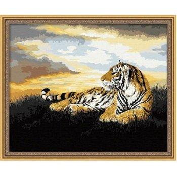 G035 tiger bild tier-design oiil malen nach zahlen auf leinwand yiwu großhandel malen junge marke