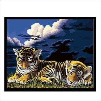 tiger foto leinwand gemälde großhandel malen nach zahlen tier bild auf leinwand kit