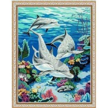 großhandel diy Ölgemälde seenlandschaft Fisch Foto design leinwand Öl malen nach zahlen yiwu malerei fabrik