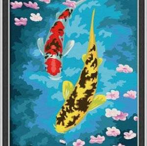 G050 fish design acrylic canvas painting wholesales diy paint with numbers