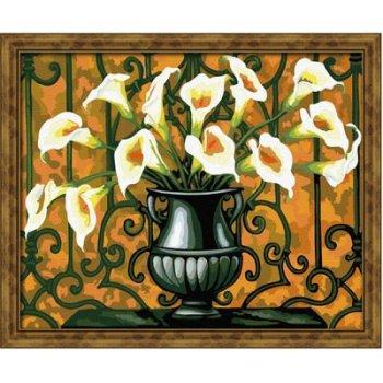 Großhandel diy Öl malen nach zahlen g180 abstrakte blumen-design heiße bilder