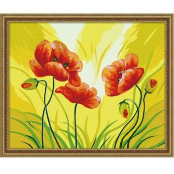 Großhandel diy malen mit Zahlen g076 blumen-design malerei auf leinwand handmaded malerei