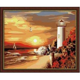 großhandel Farbe mit numbersnaturel seascape leinwand gemälde von nummer g089