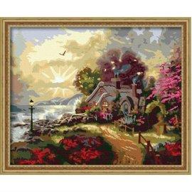 g097 Haus Landschaft Ölbild auf leinwand großhandel diy malen mit Zahlen