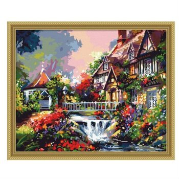 großhandel diy malen nach zahlen g102 Garten landschaft malerei
