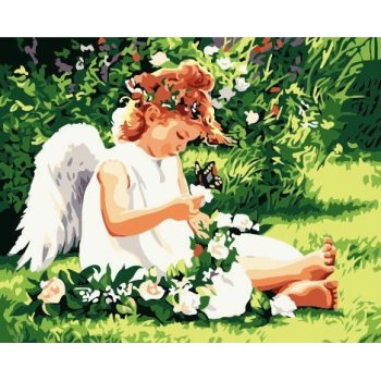 großhandel malen mit zahlen g151 engel design bild leinwand gemälde