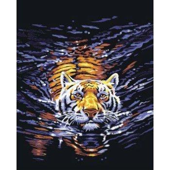 G158 tier-design tiger bild handmaded leinwand Öl malen junge marke