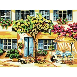 großhandel malen mit Zahlen Gartenlandschaft leinwand gemälde von nummer yiwu großhandel jia cai tian yian