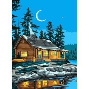 G185 Nacht-Landschaft acryl-malerei auf leinwand großhandel malen nach zahlen