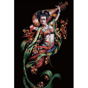 diy Öl malen nach zahlen mit chinesischen mädchen bild