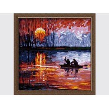 ausgezeichneten Leinwand handgefertigt färbung von Zahlen diy malen nach zahlen neue landschaft malerei