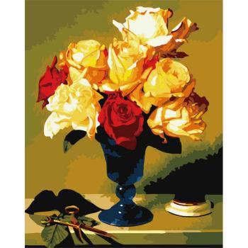Malerei paintboy mit zahlen- umwelt erreichen- acrylfarbe