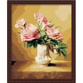 Blume malen nach zahlen- en71-3- astmd- 4236 acrylfarbe- Lack Junge 40*50cm g063