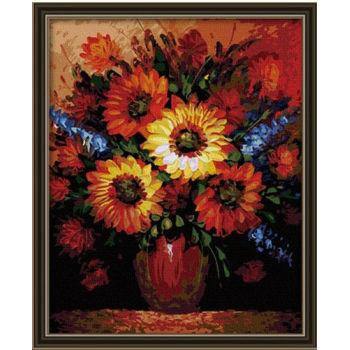 Paintboy malen mit zahlen- Umwelt blume acrylfarbe- Erreichen ce 40*50cm g062