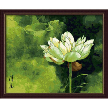 Blume malen mit Zahlen- en71-3- astmd- 4236 acrylfarbe- Lack Junge 40*50cm g070